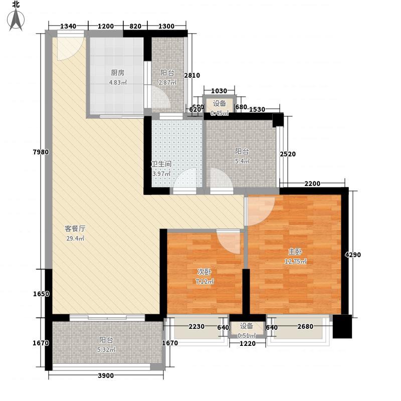保利香槟国际1.46㎡1栋1单元0(已售罄)户型3室2厅1卫1厨