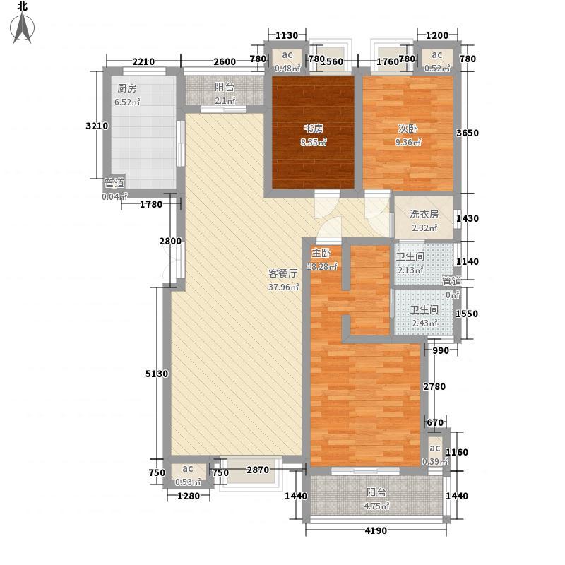 森泰御城・首府142.00㎡1#楼致远A2户型3室2厅1卫1厨