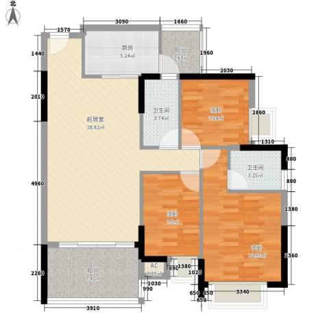 星城格调3室0厅2卫1厨112.00㎡户型图