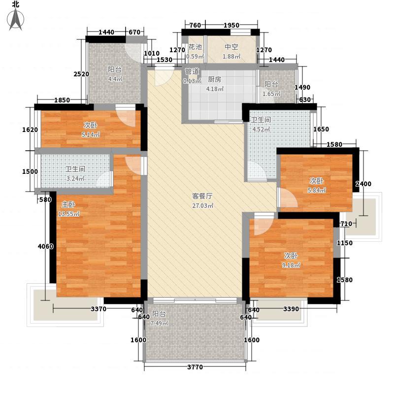 富通城四期129.62㎡富通城四期户型图五期14栋A座(05+06)户型3室2厅2卫户型3室2厅2卫