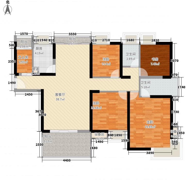 富通城四期156.38㎡富通城四期户型图五期16栋02户型4室2厅2卫户型4室2厅2卫