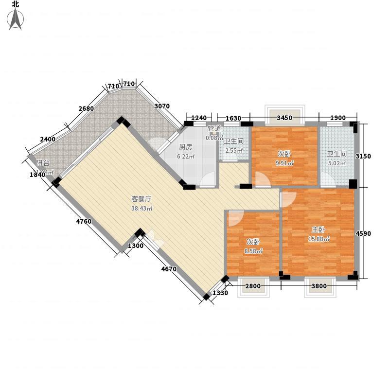 碧水康城112.30㎡1#A户型3室2厅2卫1厨