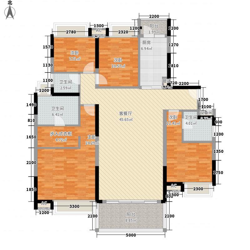 万科金色家园169.00㎡万科金色家园户型图观月园2/3座(01单元)4室2厅3卫户型4室2厅3卫