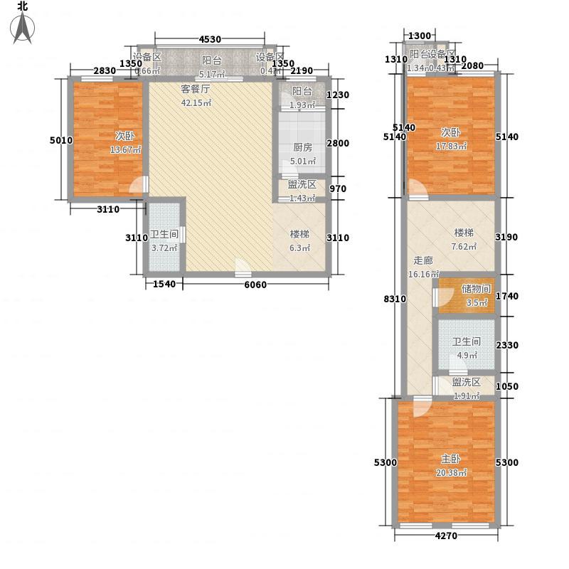 乾昌大厦201.83㎡复式结构户型3室2厅2卫1厨