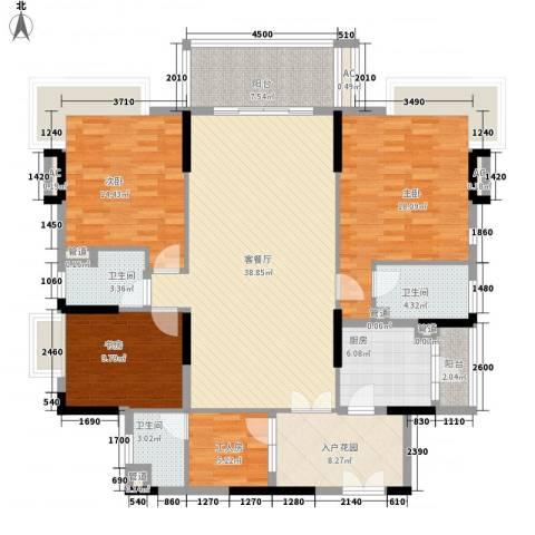 勤天一品树院别墅3室1厅3卫1厨147.00㎡户型图