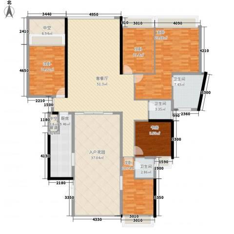 国际邮轮城一期5室1厅3卫1厨233.00㎡户型图