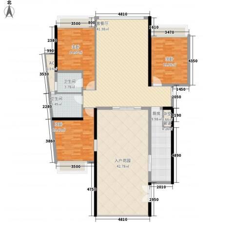 国际邮轮城一期3室1厅2卫1厨173.00㎡户型图