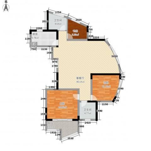 御源林城3室1厅2卫1厨142.00㎡户型图
