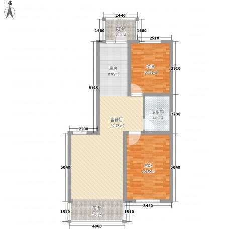 江尚逸品2室1厅1卫0厨74.42㎡户型图