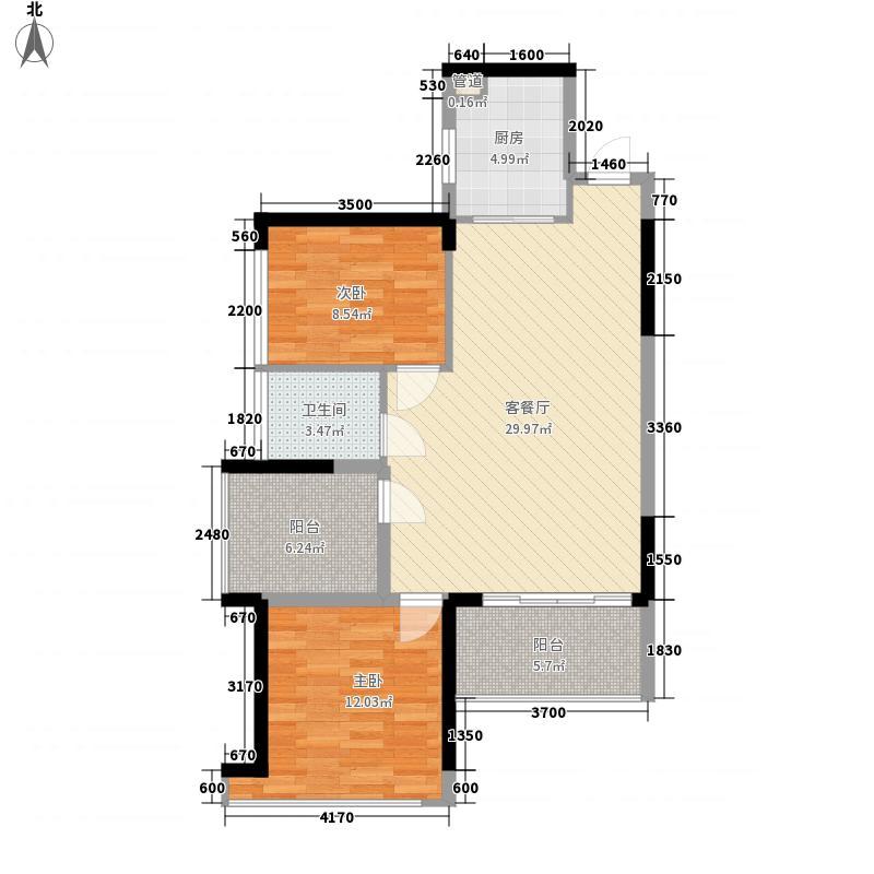 振业天峦89.00㎡振业・天峦项目户型图3栋CDIJ户型2室2厅1卫1厨户型2室2厅1卫1厨