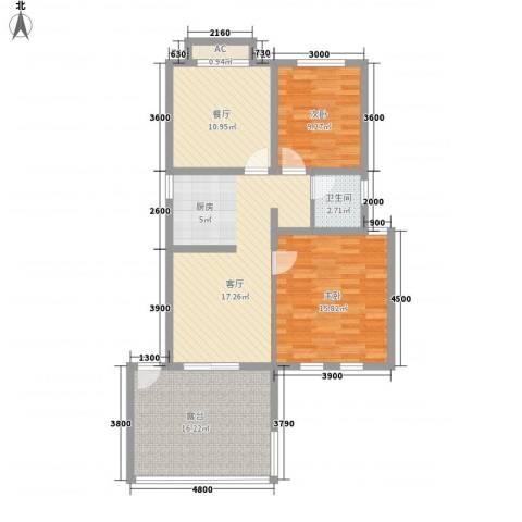 泉山森林海2室1厅1卫0厨55.91㎡户型图