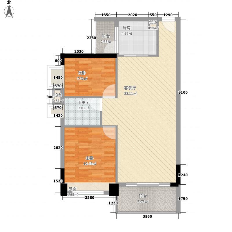 联华花园城99.10㎡联华花园城户型图L1座03号2室2厅1卫户型2室2厅1卫