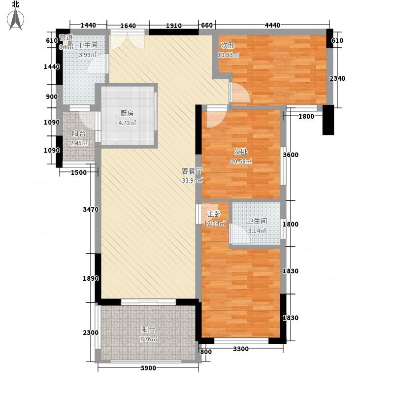 绿茵温莎堡五期113.38㎡绿茵温莎堡五期户型图60-64栋03户型3室2厅2卫1厨户型3室2厅2卫1厨
