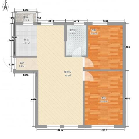 温莎小镇2室1厅1卫0厨85.00㎡户型图
