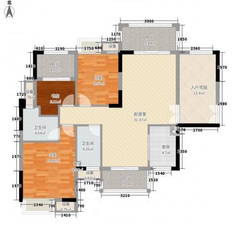 远洋启宸3室0厅2卫1厨148.00㎡户型图