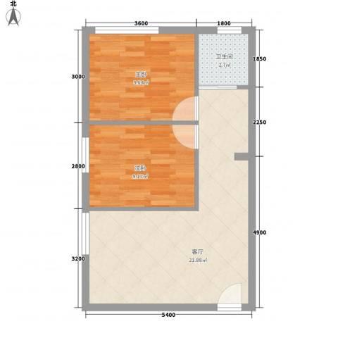 威华广场2室1厅1卫0厨65.00㎡户型图
