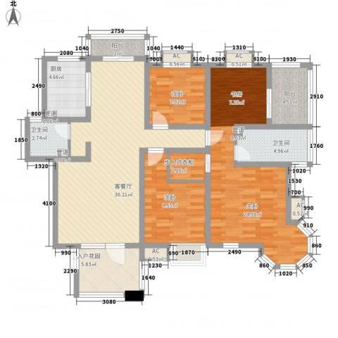优山美地3室1厅2卫1厨149.00㎡户型图