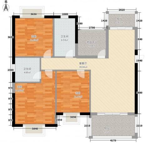 丽城水苑3室1厅2卫0厨135.00㎡户型图