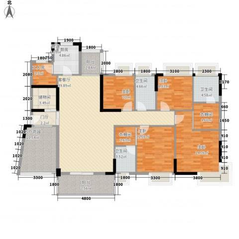 金色华庭二期4室1厅3卫1厨194.00㎡户型图