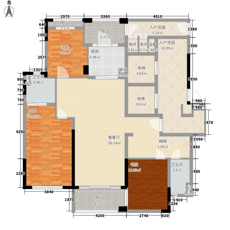 龙�山173.00㎡B户型3室2厅2卫1厨