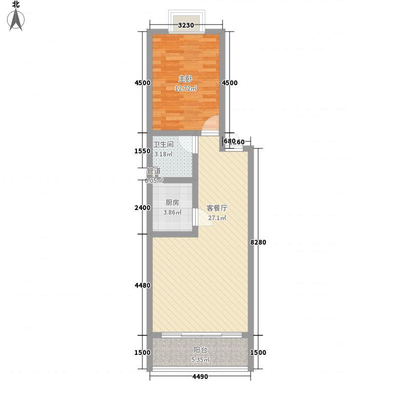 齐锦花园齐锦花园户型图6#-21室2厅1卫1厨户型1室2厅1卫1厨