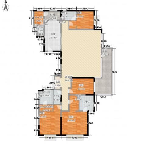 富力十号4室1厅5卫1厨315.00㎡户型图