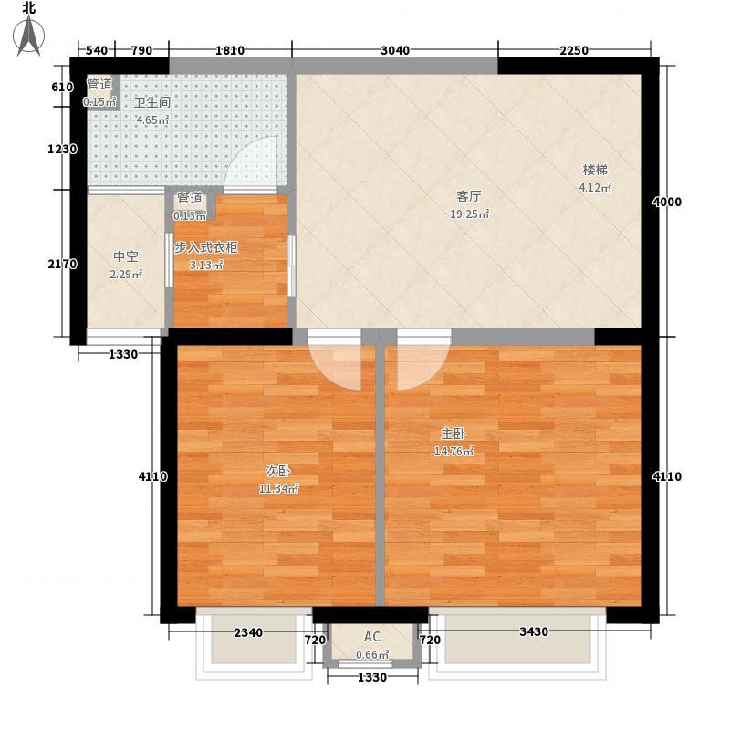 中海龙湾160.00㎡中海龙湾户型图160领导跃层二层2室1厅1卫户型2室1厅1卫