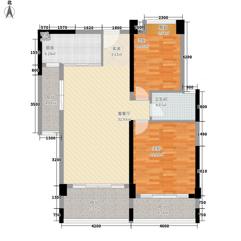 蓝色海岸110.14㎡蓝色海岸户型图B7户型2室2厅1卫户型2室2厅1卫
