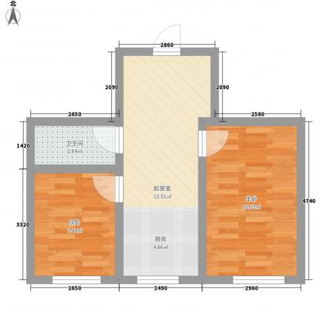 江尚逸品2室0厅1卫0厨39.00㎡户型图