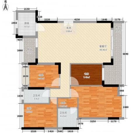金地格林小城三期4室1厅2卫1厨149.00㎡户型图