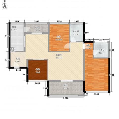 泰和花园3室1厅2卫1厨131.00㎡户型图