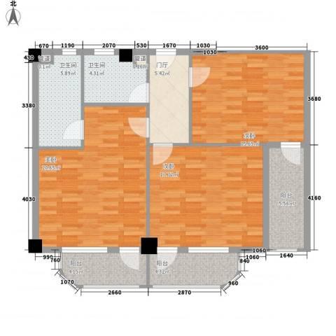 南台新苑牡丹园3室0厅2卫0厨118.00㎡户型图