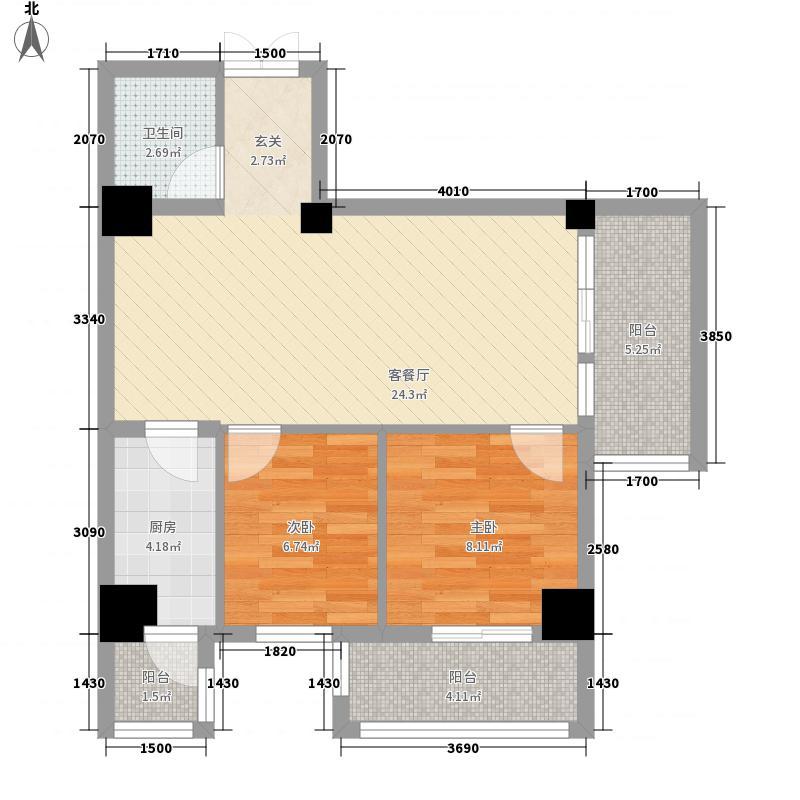汽配公司家属院85.00㎡汽配公司家属院户型图32室2厅1卫1厨户型2室2厅1卫1厨
