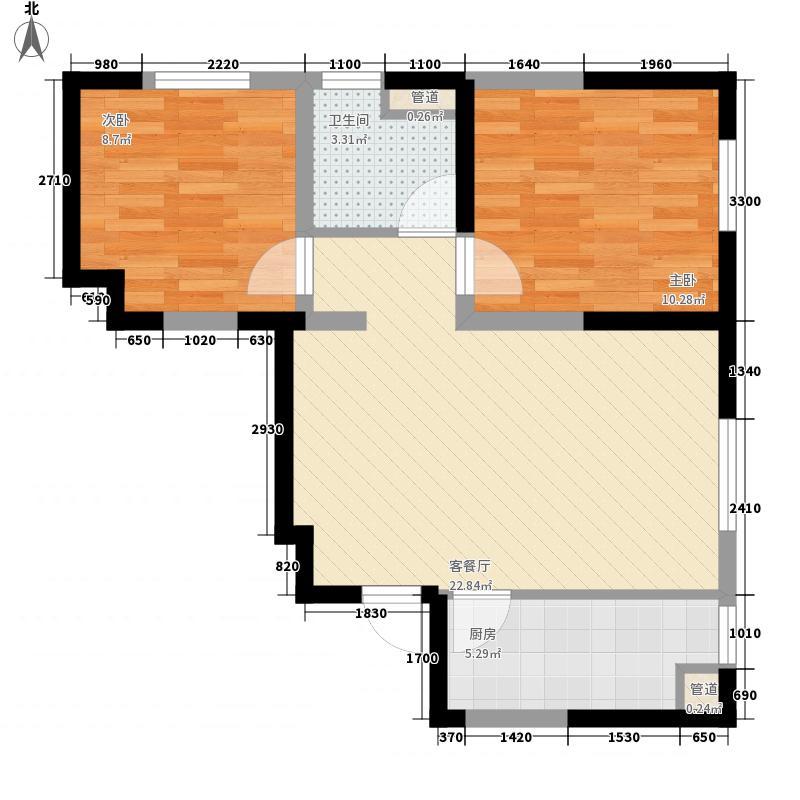 万科・润园72.00㎡万科・润园户型图A户型2室2厅1卫户型2室2厅1卫