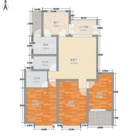 水月秦淮3室2厅2卫1厨134.00㎡户型图