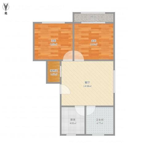 淞南七村2室1厅1卫1厨62.00㎡户型图