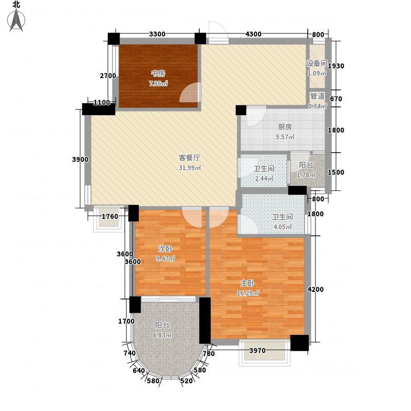 南湖国际广场11.13㎡户型3室