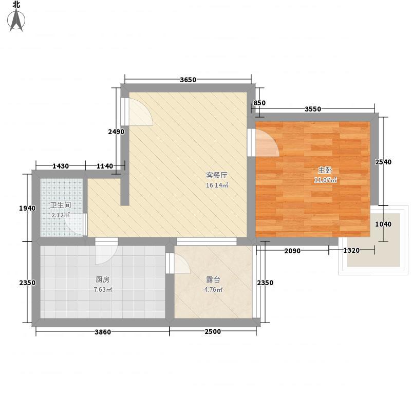 格林春天项目60.95㎡格林春天项目户型图2C户型2室1厅1卫1厨户型2室1厅1卫1厨