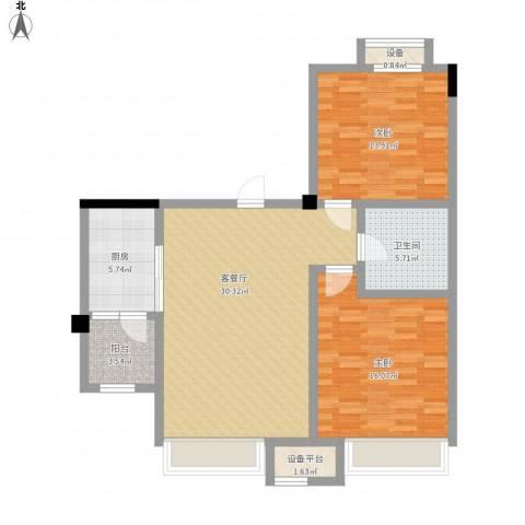 碧桂园欧洲城2室1厅1卫1厨112.00㎡户型图