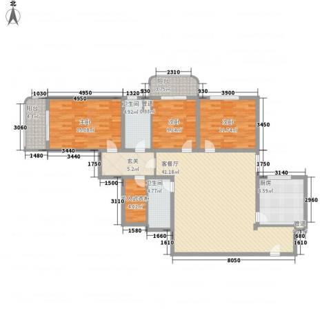 银亿徐汇酩悦3室1厅2卫1厨162.00㎡户型图