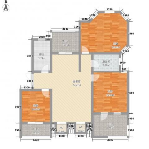 泉山森林海3室1厅1卫1厨114.00㎡户型图