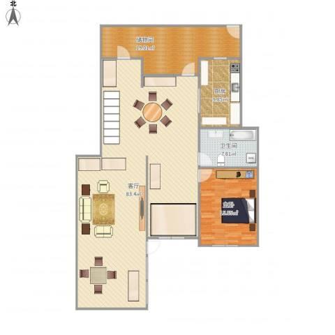 佳兆业・龙湾1室1厅1卫1厨143.13㎡户型图