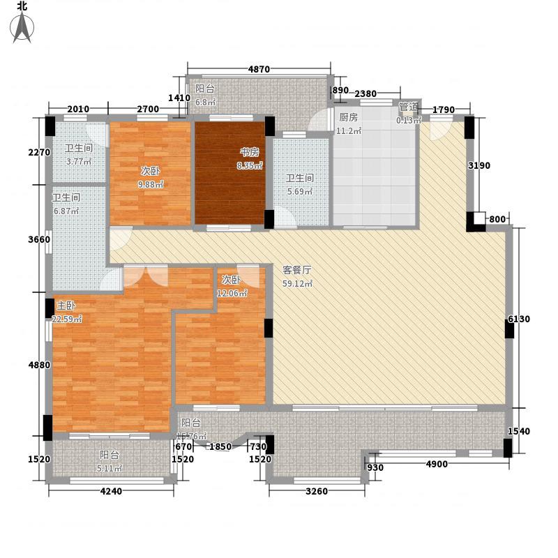绿茵温莎堡五期201.93㎡绿茵温莎堡五期户型图69-74栋单边位3-6层户型4室2厅3卫1厨户型4室2厅3卫1厨