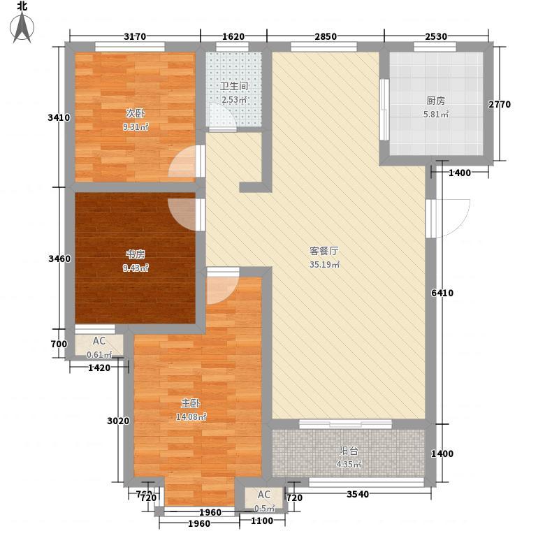 齐鲁涧桥115.25㎡齐鲁涧桥户型图E组团Ss户型3室2厅1卫户型3室2厅1卫