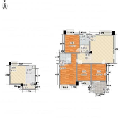 世纪中央城4室1厅2卫0厨139.00㎡户型图