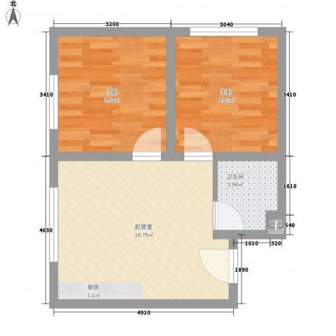 都豪家园2室0厅1卫0厨55.00㎡户型图