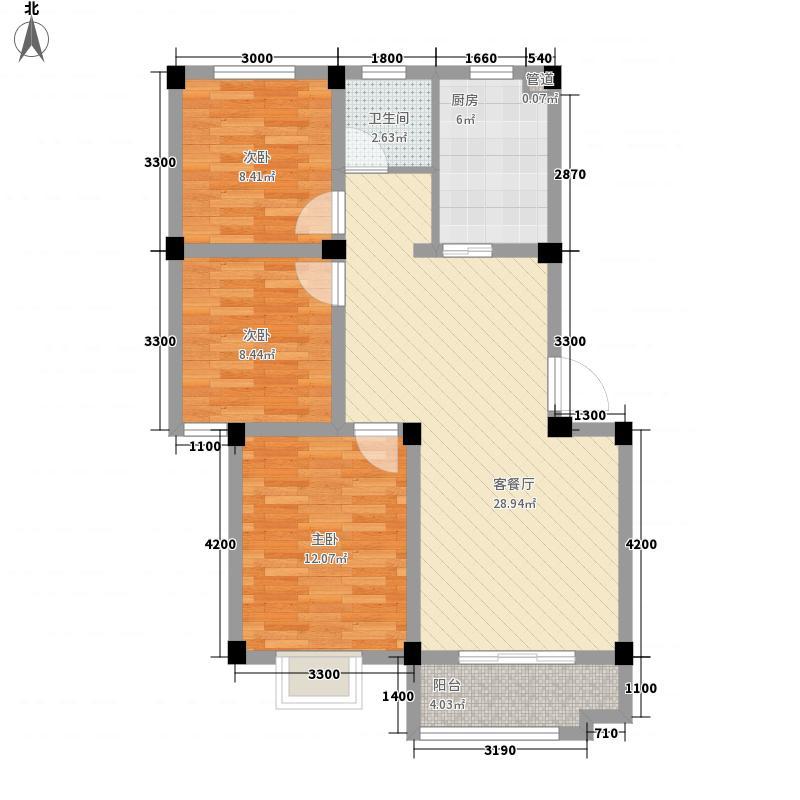 海亚当代再五栋88.55㎡海亚当代再五栋户型图11、12#楼A户型3室2厅1卫1厨户型3室2厅1卫1厨