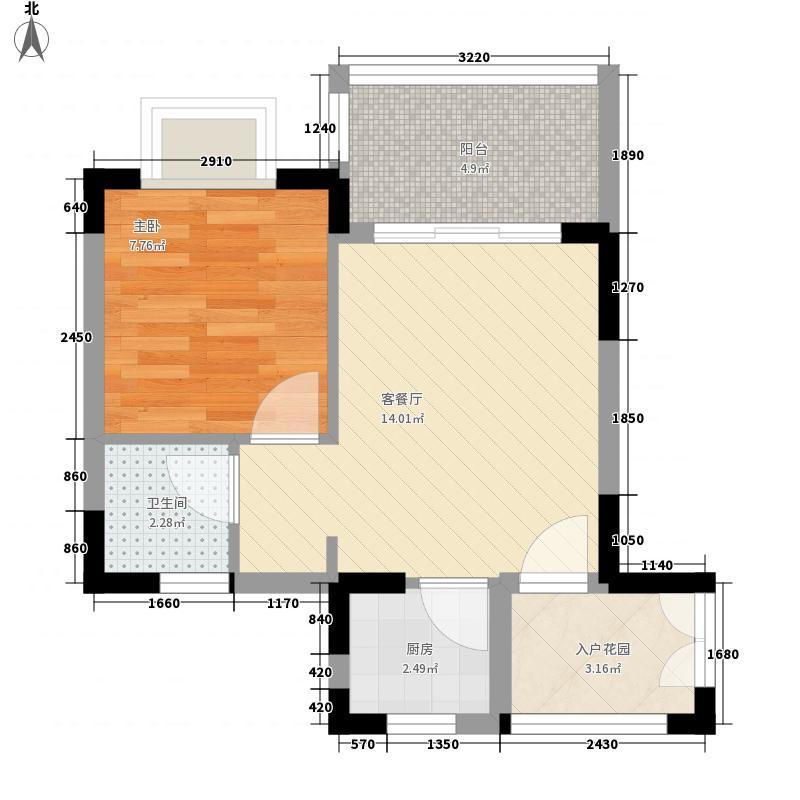 山海和湾51.00㎡山海和湾户型图一房户型图1室1厅1卫1厨户型1室1厅1卫1厨