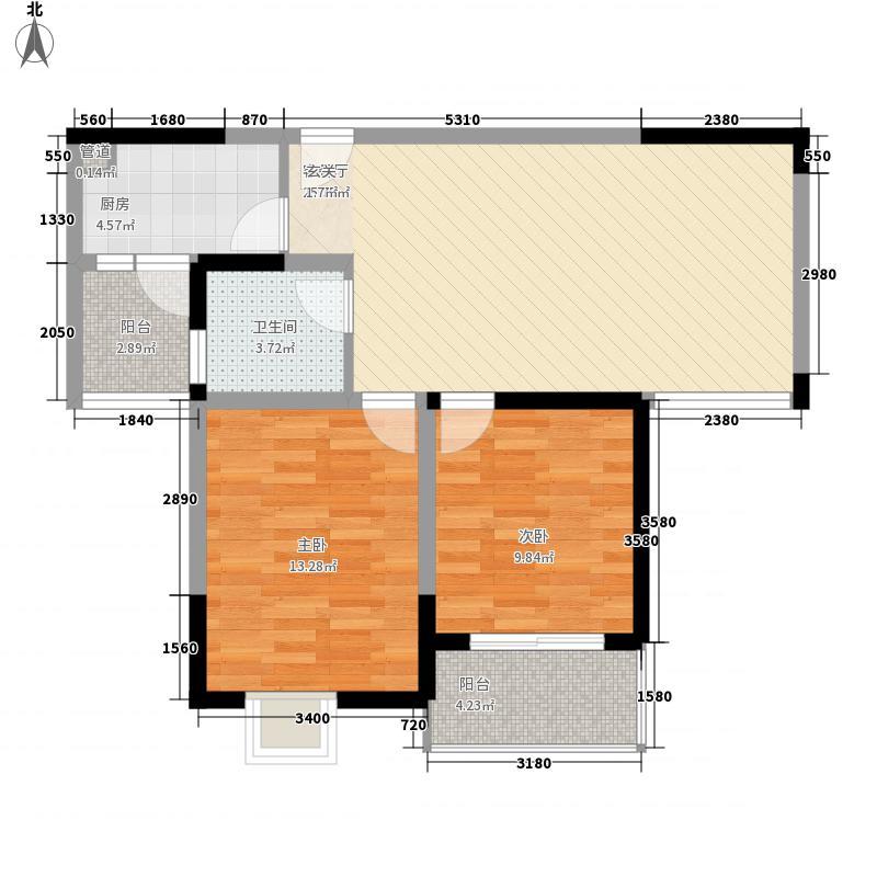 金润华庭92.42㎡金润华庭户型图K22室2厅1卫户型2室2厅1卫