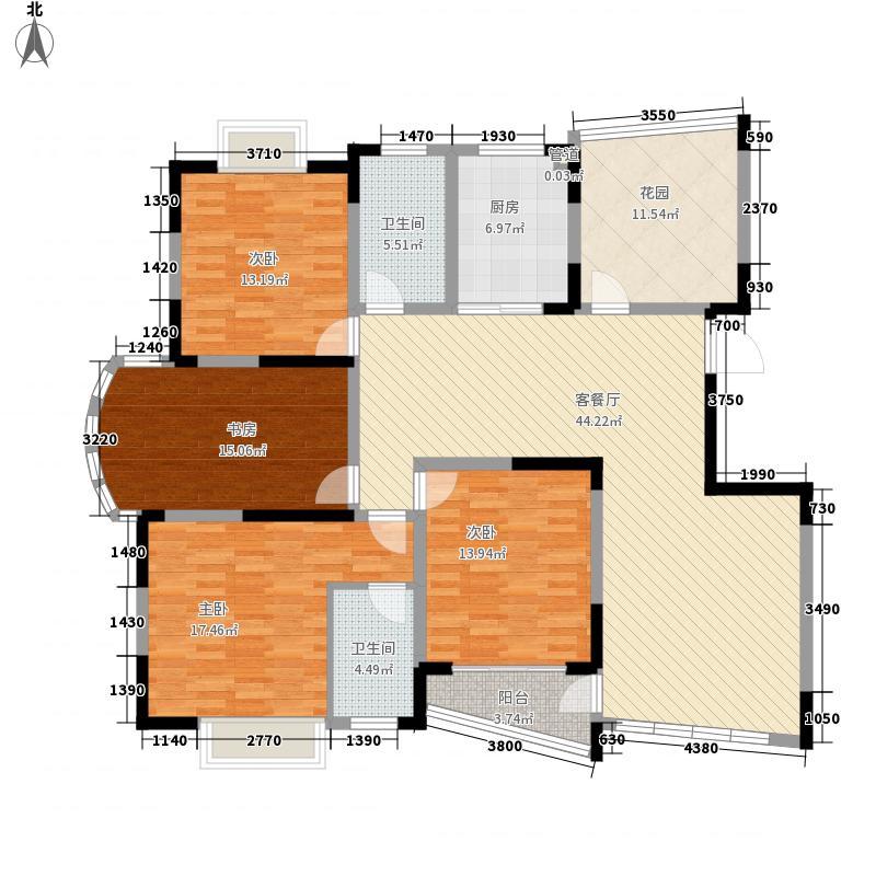 中远欧洲城193.08㎡E户型5室2厅2卫1厨